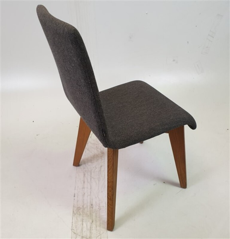 additional images for Frovi Grey Fabric Chairs Oak Legs