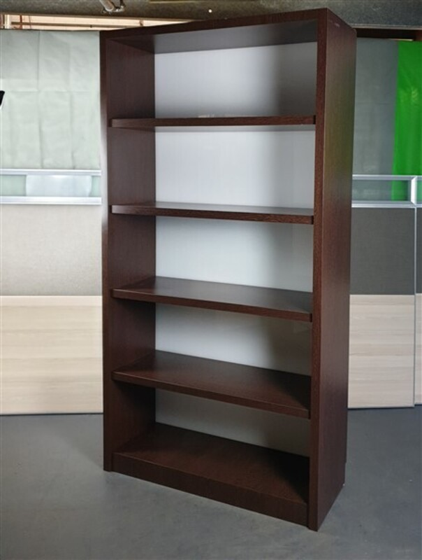 additional images for Tall Dark Walnut Wooden Bookshelf Cupboard