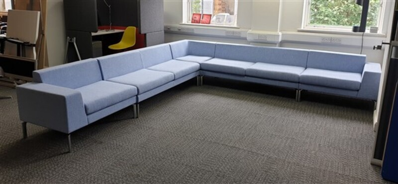 additional images for Boss Design Corner Sofa Baby Blue