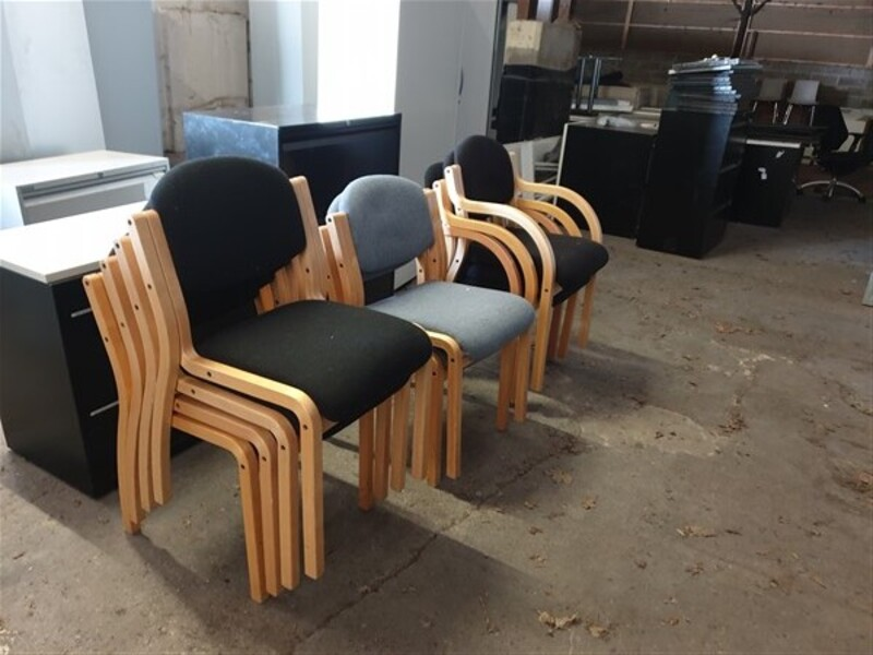 additional images for Wooden frame meeting chairs