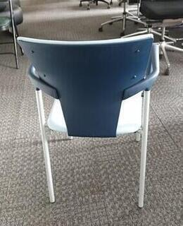 Dark blue  light blue stacking chairs