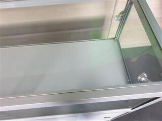 Glass amp aluminium display cabinet