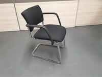 additional images for Pledge Black Chrome Cantilever Meeting Chair