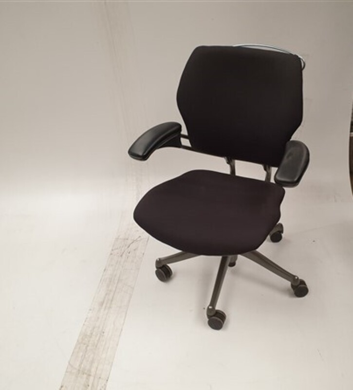 additional images for Humanscale black chair grey frame