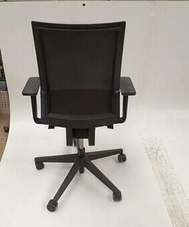 Bene black mesh back chair
