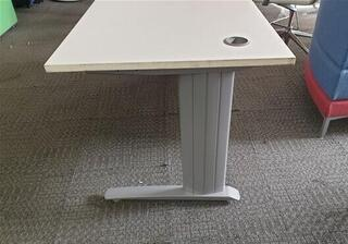 White desk freestanding