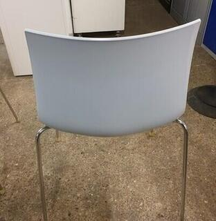 Arper Catifa 46 whitecolour shell stacking canteen chairs