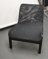 additional images for Low black mesh chairs