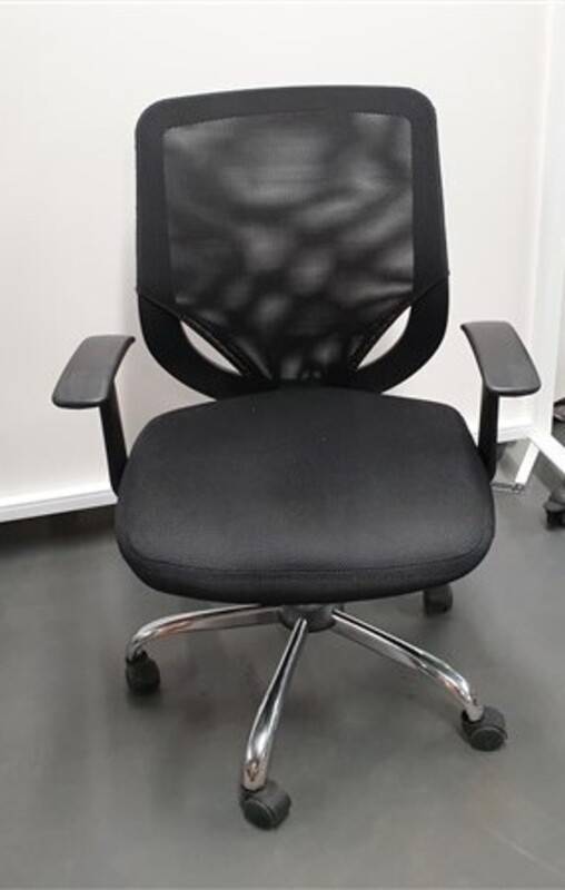 additional images for Black mesh back chair