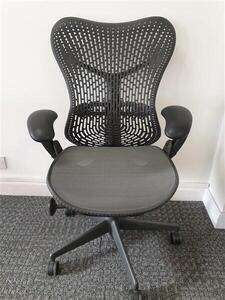 additional images for Herman Miller Mirra 1 in grey with standard graphite back