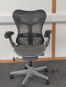 additional images for Herman Miller Mirra 1 graphite with grey mesh seat / light grey trim