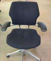 additional images for Humanscale Freedom mid-back task chair in black/chrome