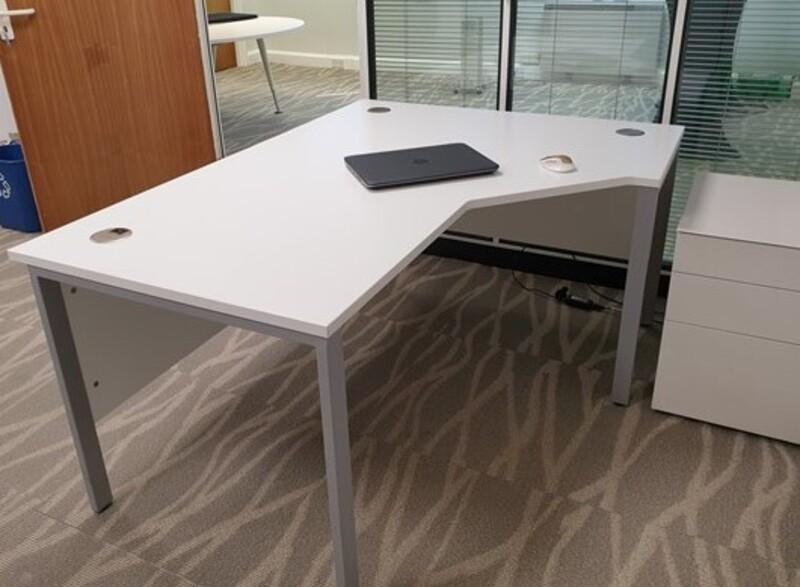 additional images for White corner desk right handed