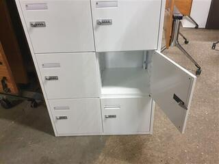 White metal 10 compartment locker