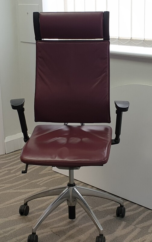 additional images for Sedus wine leather operator chair