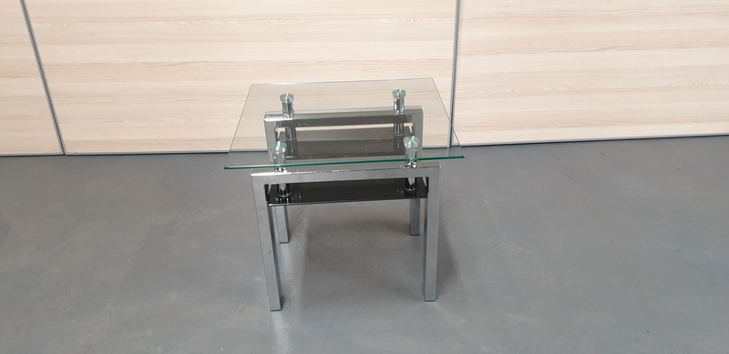 additional images for Glass and chrome coffee table