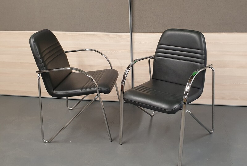 additional images for effezeta black meeting chair