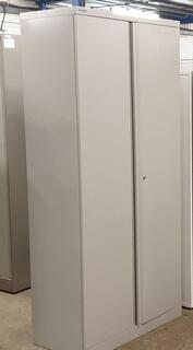 Bisley grey metal cupboard 1970h