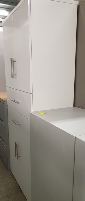 additional images for White double cupboard with drawers