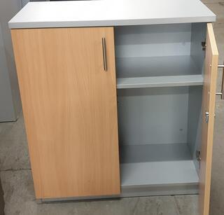 Light oak and grey cupboard