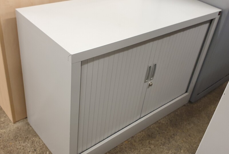 additional images for Low grey metal tambour