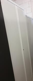 Grey metal cupboard 1960h