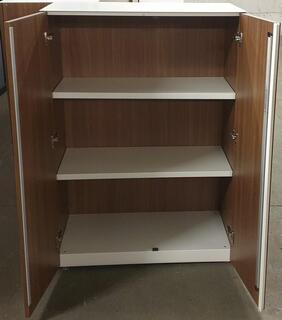 Walnut and white cupboard