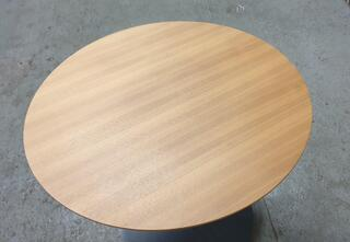 Oak circular coffee table