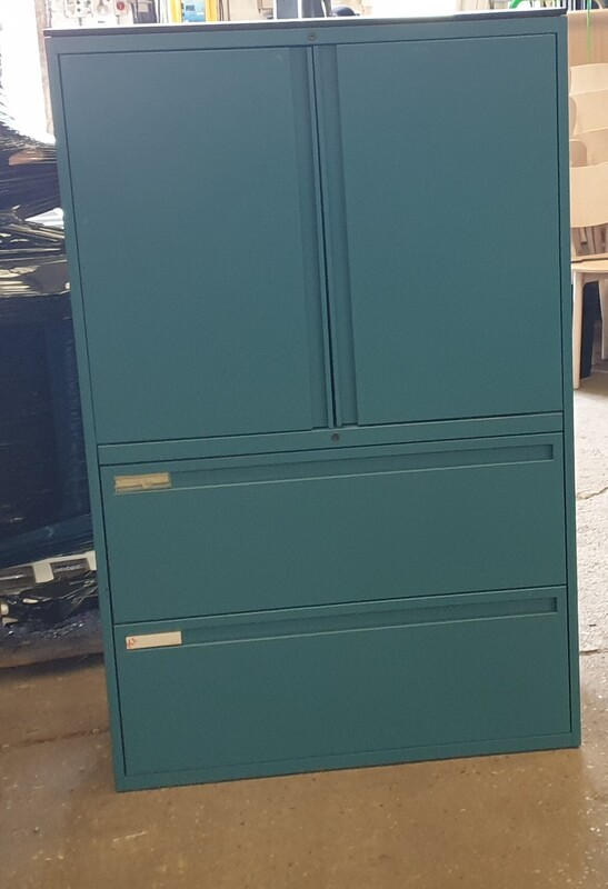 additional images for Teal metal cupboard