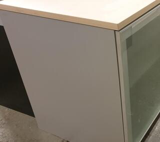 Maple cupboard with glass doors