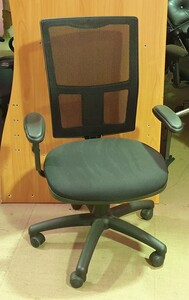additional images for Black mesh back 2 lever operator chair