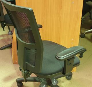 Black mesh back 2 lever operator chair