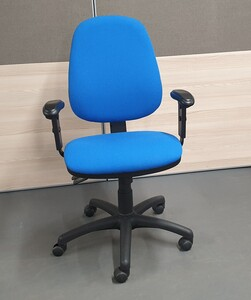 additional images for Royal blue operator chair