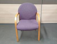 additional images for Mauve and beech meeting chairs