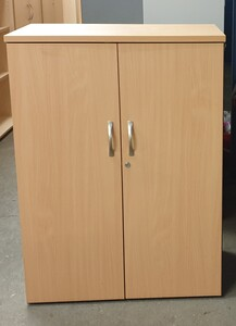 additional images for Beech and grey cupboard