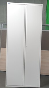 additional images for Silverline Tall White Metal Cupboard