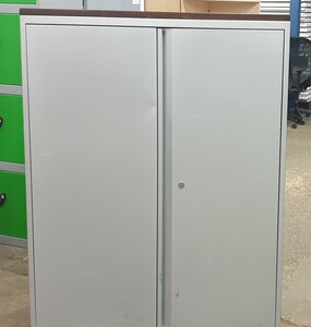 additional images for Grey metal cupboard 1340h