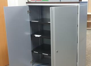 Grey metal cupboard 1340h