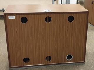 Walnut server cabinet