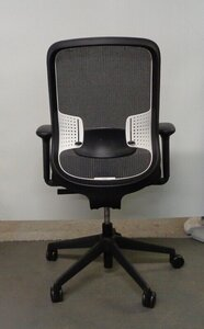 additional images for Orangebox DO black with white lumbar task chair