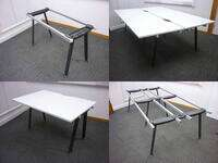 additional images for Herman Miller Abak graphite desk frames with various tops