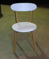 additional images for Oak and white wood cafe chair