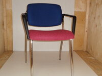 additional images for REDSPACE blue and pink meeting chair