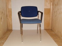 additional images for REDSPACE blue two tone meeting chair