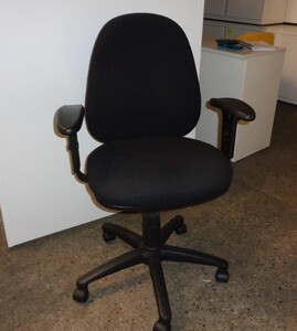 additional images for Black fabric task chair