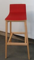 additional images for Connection 'Emma' red and beech stool