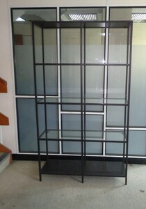 additional images for Metal and glass shelving unit