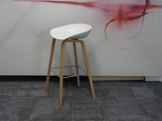 White and beech stool