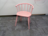 additional images for Andy Thornton pink W. lounge chair