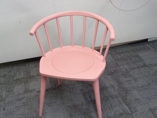 Andy Thornton pink W lounge chair